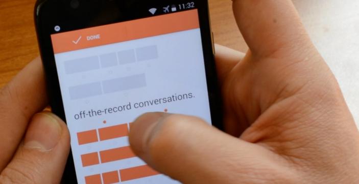 confide chat app