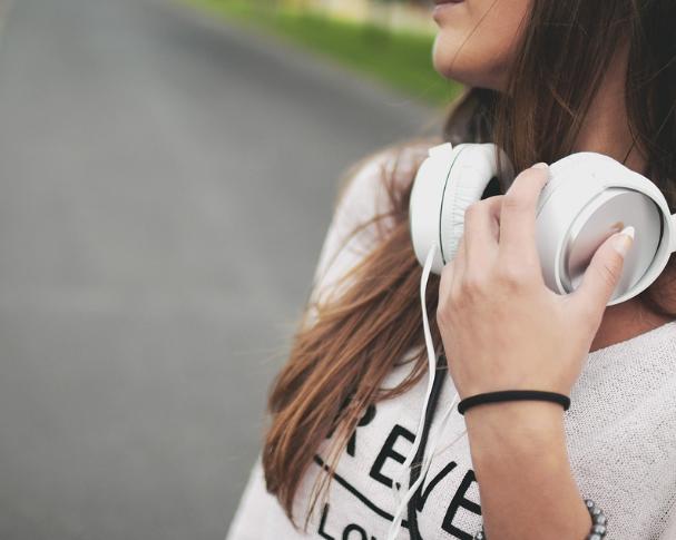 music and girl