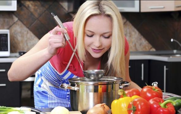 girl cooking